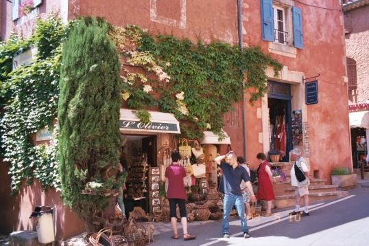 Shopping in Rousillon, France